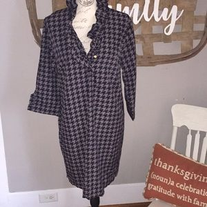 Mud pie houndstooth pattern dress size Large